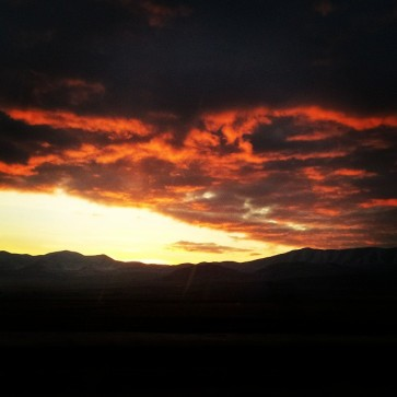 red skies over Utah